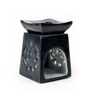 Oil Vaporizer Lotus Black Soapstone