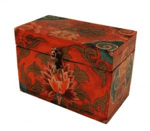 Tibetan Box Flower motifs (10 x 12 x 17.5 cm)