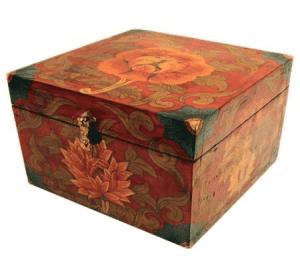 Treasury with Tibetan Motifs and Flowers