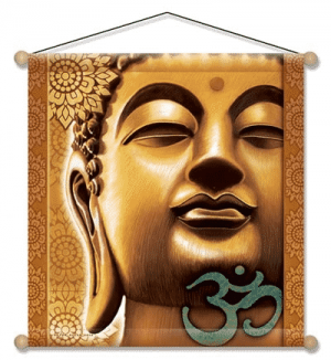 Meditation Banner Golden Buddha