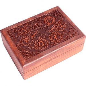 Tarot Box Seven Chakras Engraved