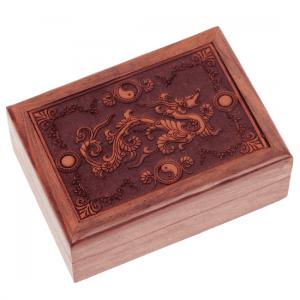 Tarot Box Dragon Engraved