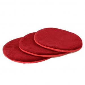 Singing Bowl Flat Round Red