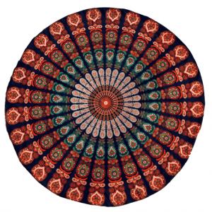 Blue-orange Beachcloth Mandala
