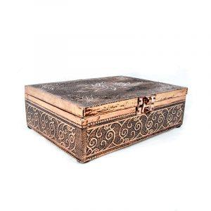 Tarot Or Jewellery Box Lotus Copper Color