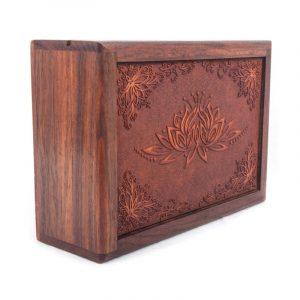 Tarot Box Lotus Engraved
