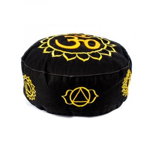 Meditation Pillow Chakra (gold Black)