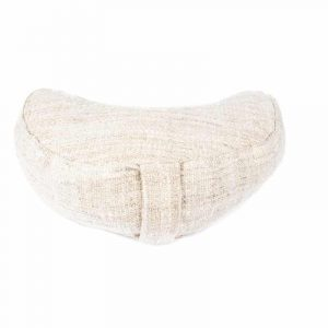 Meditation Pillow Half Moon Hemp (natural)