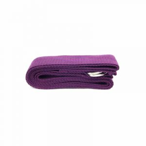 Yoga Belt D-ring Cotton Purple