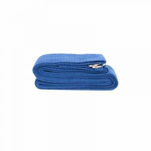 Yoga Belt D-ring Blue Cotton (250 X 3 Cm)