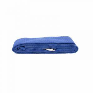 Yoga Belt D-ring Blue Cotton (183 X 4 Cm)