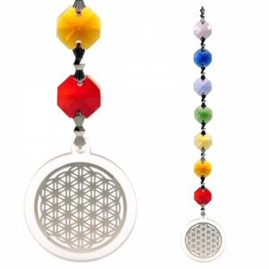 Feng Shui - Flower Of Life Hanger Silver Colored