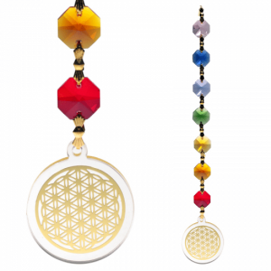 Feng Shui - Flower Of Life Pendant Gold Colored