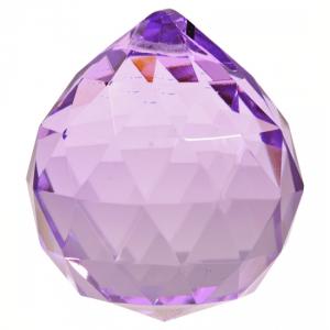 Rainbow Crystal Bol Violet Aaa Quality (5 Cm)