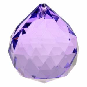 Rainbow Crystal Bol Violet Aaa Quality (4 Cm)