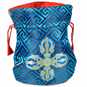 Brocade bag Blue Dual Dorje Lined