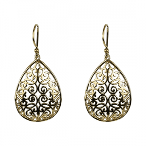 Earrings Brass Drop-shaped Gold-coloured