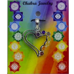 Heart Chakra Pendant Brass Silver plated