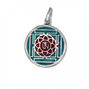 OHM Pendant Turquoise with Red