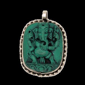 Ganesha Pendant Turquoise
