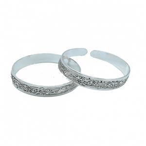 Bracelet Tribal Lotus Design Miao Silver