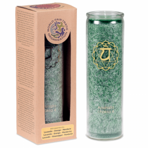 Odour candle Stearin 4th Chakra - 100 hours Burn time