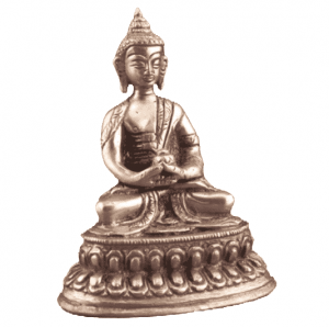 Little statue Buddha Amithaba - 10 cm (Brass)