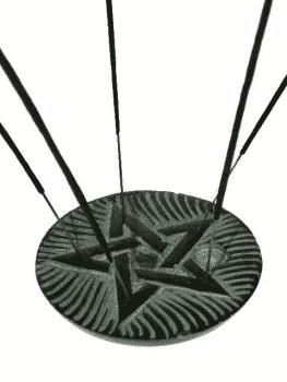 Incense and cone burner Pentagram soapstone