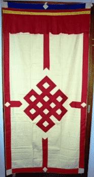 Tibetan Doorcloth Red-Ecrush
