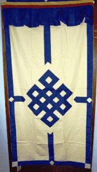 Tibetan Door dress Blue-Ecruck