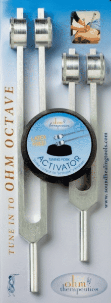 Tuning forks OHM Octave with Activator (Set of Two Tuning Forks)