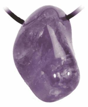 Amethyst Drumstone Pendant Bound