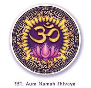 Window sticker Om Namah Shivaya