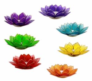 Lotus Atmospheric Lights Chakras with Gold Edge