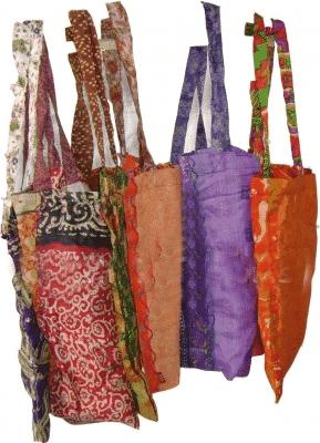 Boodschappentas kwaliteit viscose sari