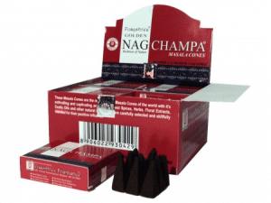 Golden Nag Incense cones Champa Masala (12 packets)