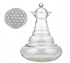 Vitality Water Carafe White Alladin with Flower of Life White