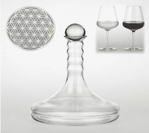 Vital Wine Carafe Rubellum with Flower of Life White