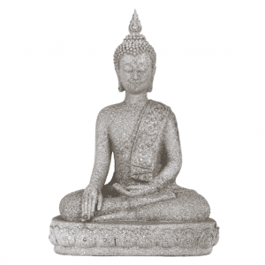 Buddha statue Thai Guide Earth Grey - 39 cm