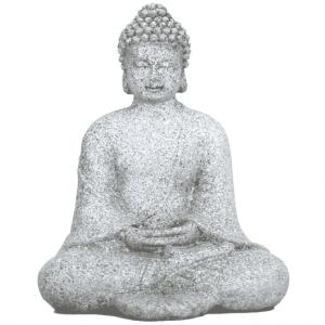 Meditation Buddha Stone grey - 12 cm