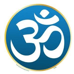 Window sticker OHM Symbol Blue