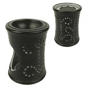 Incense and Oil Evaporator Soapstone Black
