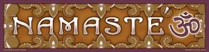 Bumper sticker Namaste