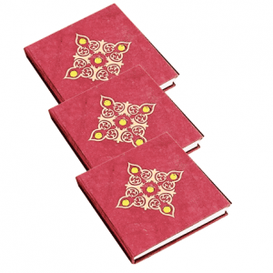 Notebook Red with Stones - Medium