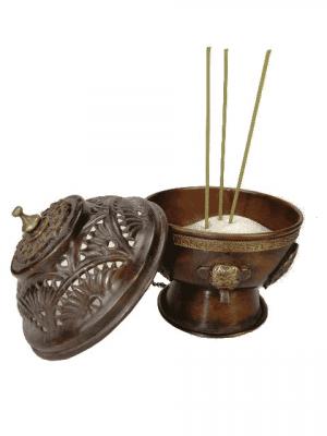 Suspended Incense burner Brass Antique Finish (12 cm)