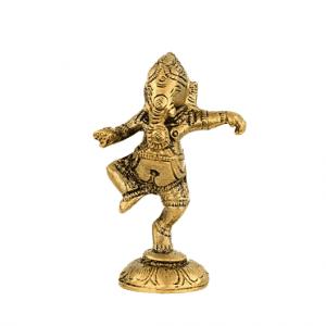 Ganesha Dancing Brass - 10 cm