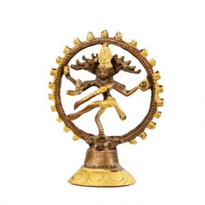 Shiva Nataraj Brass Two-colour - 20 cm - (Model 1)