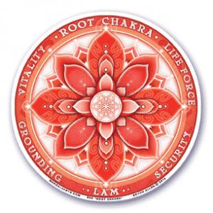 Window sticker 1st chakra