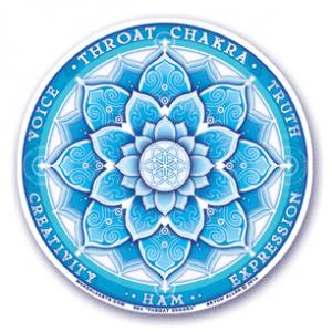 Window sticker 5th chakra