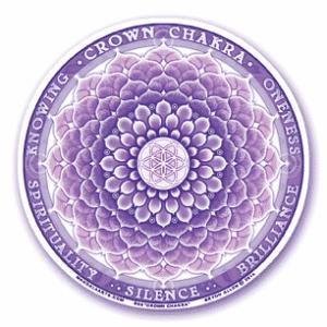 Window sticker 7th chakra